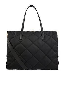 accessorize-harri-quilted-weekender-bag-black