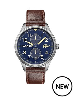 lacoste-lacoste-continental-blue-multi-dial-brown-leather-strap-mens-watch