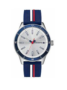 lacoste-lacoste-key-west-silver-sunray-and-blue-detail-dial-blue-white-and-red-silicone-strap-mens-watch