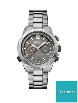 boss-boss-grey-sunray-and-red-detail-chronograph-dial-stainless-steel-bracelet-mens-watch