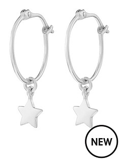 accessorize-sterling-silver-star-drop-hoop-earrings