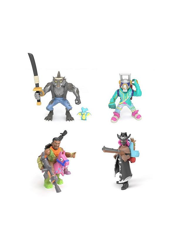Fortnite Battle Royale Collection Squad Pack 4 Fortnite Battle Royale Collection Figures Dire Werewolf Calamity Demon Hunting Cowgirl Dj