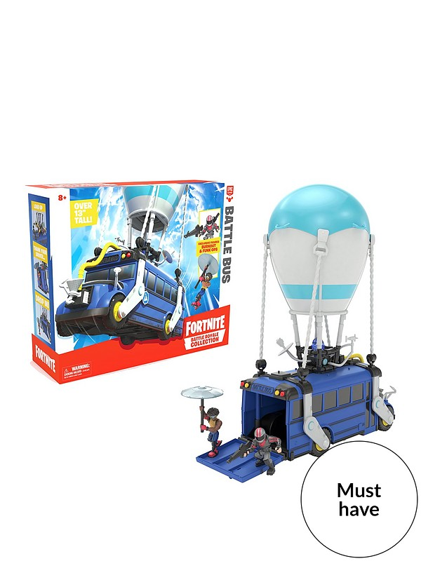 Fortnite Battle Royale Collection Battle Bus And 2 Exclusive Figures Funk Ops And Burnout