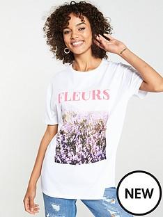 v-by-very-fleursnbspslogan-t-shirt-white