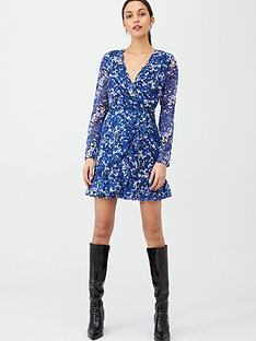 v-by-very-dobby-printed-wrap-dress-blue-floral
