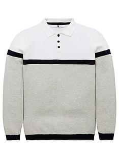 v-by-very-boys-colour-block-knitted-long-sleeve-polo-grey