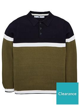 v-by-very-boys-colourblock-knitted-long-sleeve-polo-shirt-khaki