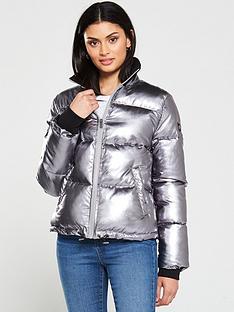 ugg-izzie-paddednbspcoat-silver-metallic