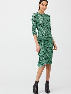 v-by-very-ruched-detail-dress-animal