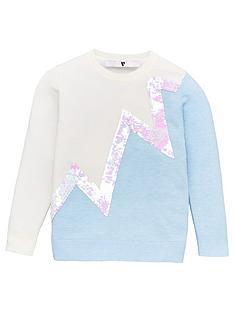 v-by-very-girls-zig-zag-flippy-sequin-detail-jumper-cream