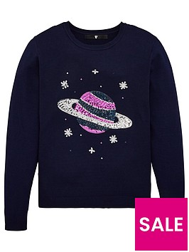 v-by-very-girls-space-sequin-jumper-navy