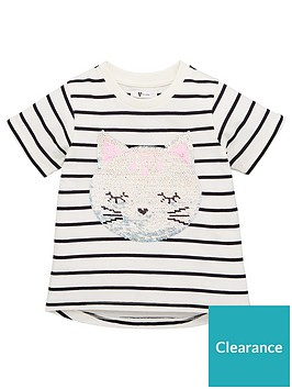 v-by-very-girls-striped-sequin-character-tee-navy