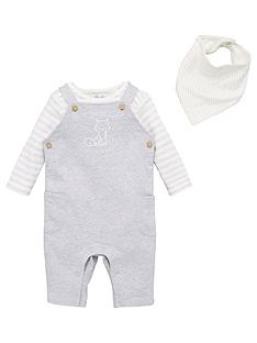 v-by-very-unisex-3-piece-fox-dungaree-bodysuit-and-bib-outfit-grey-marl
