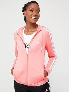 adidas-3-stripe-full-zip-hooded-tracksuit-pinkblack
