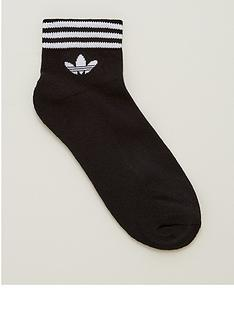 adidas-originals-3-pack-trefoil-ankle-sock-black