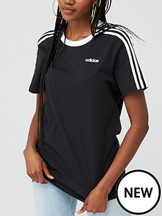 adidas-essentials-3-stripe-boyfriend-tee-black