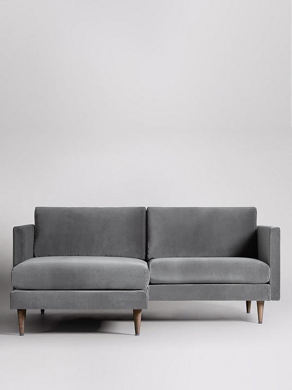 Fabric Left Hand 2 Seater Corner Sofa