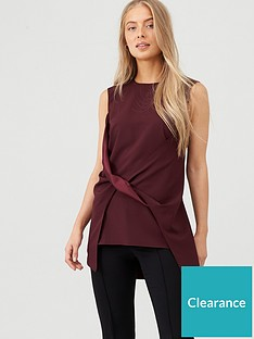 v-by-very-twist-front-satin-back-blouse-berry