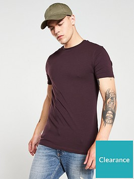 river-island-burgundy-muscle-fit-crew-neck-t-shirt