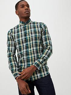 penfield-barrhead-brushed-check-shirt-green