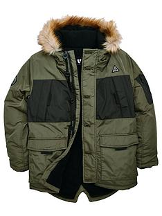 v-by-very-boys-colour-block-faux-fur-hooded-coat-khaki