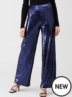 v-by-very-sequin-wide-leg-trouser-navy