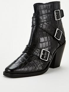 michelle-keegan-dulce-leather-cross-strap-western-boots-black
