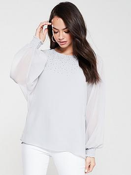wallis-hotfix-blouse-silver