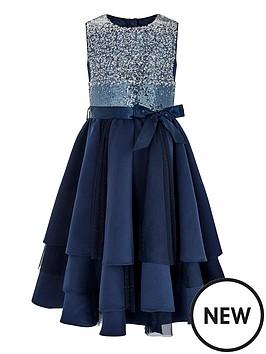 23096601c1e9 Monsoon Girls Olwyn Ombre Dress - Navy   littlewoodsireland.ie