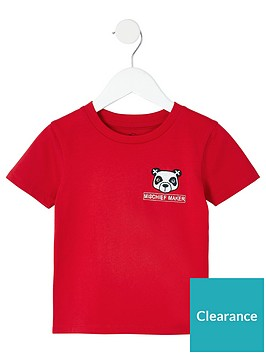 river-island-mini-mini-boys-panda-t-shirt-red