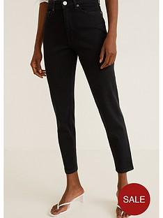 mango-mom-jeans-black