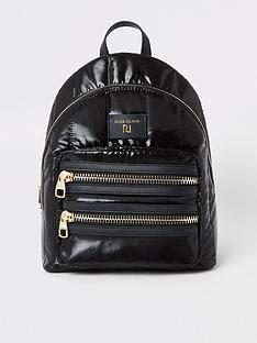 river-island-river-island-padded-soft-backpack-black