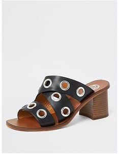 river-island-river-island-leather-eyelet-mule-sandal-black