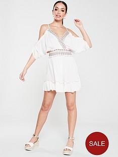 river-island-river-island-embellished-cold-shoulder-beach-dress-white
