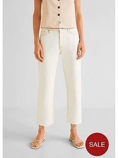 mango-contrast-stitch-cropped-jeans-ecru