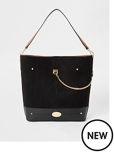river-island-river-island-chain-slouch-bag-black