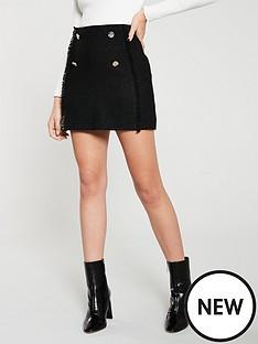 mango-tweed-button-mini-skirt-black