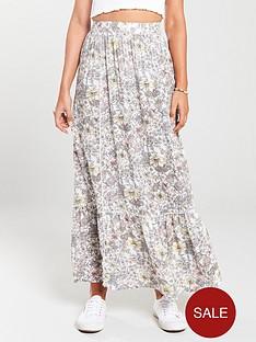 mango-frill-bottom-midi-skirt-off-white