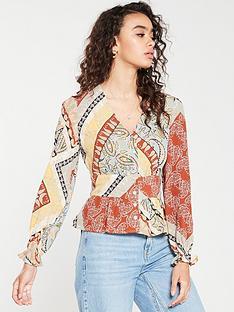 mango-paisley-button-front-blouse