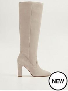 mango-suede-knee-boots