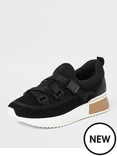 river-island-river-island-strap-runner-trainers-black