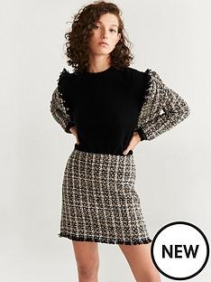 mango-tweed-mini-skirt