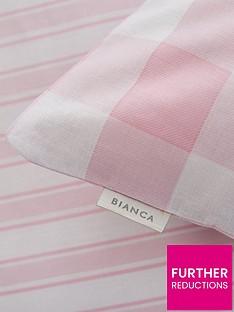 bianca-cottonsoft-bianca-pink-check-cotton-fitted-sheet