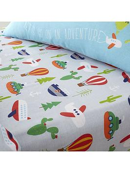 catherine-lansfield-animal-adventures-single-fitted-sheet