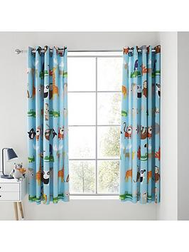 catherine-lansfield-animal-adventures-eyelet-curtains