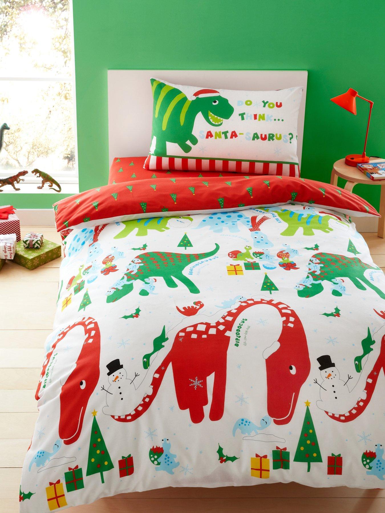 Luxury Winter Wonderland Christmas Foliage Double Duvet Cover Set 100/% Cotton