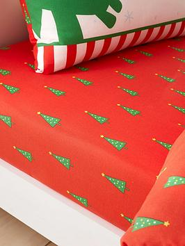 catherine-lansfield-roarsome-christmas-dino-single-fitted-sheet
