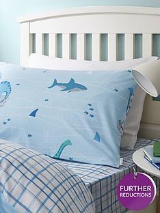 bianca-cottonsoft-bianca-shark-and-dinosaur-check-single-fitted-sheet