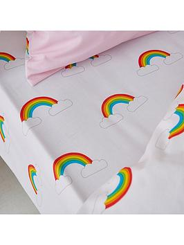 catherine-lansfield-rainbow-swan-fitted-sheet