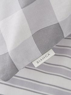 bianca-cottonsoft-bianca-grey-stripe-fitted-sheet